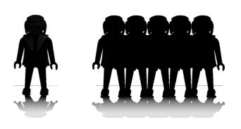 Illustration cours individuel et en groupe